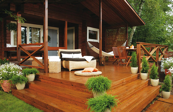 Красивые самодельные террасы к дому