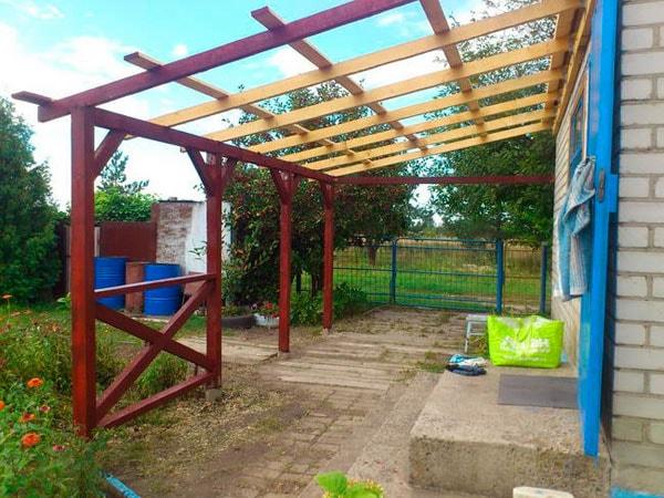 Как построить навес на даче