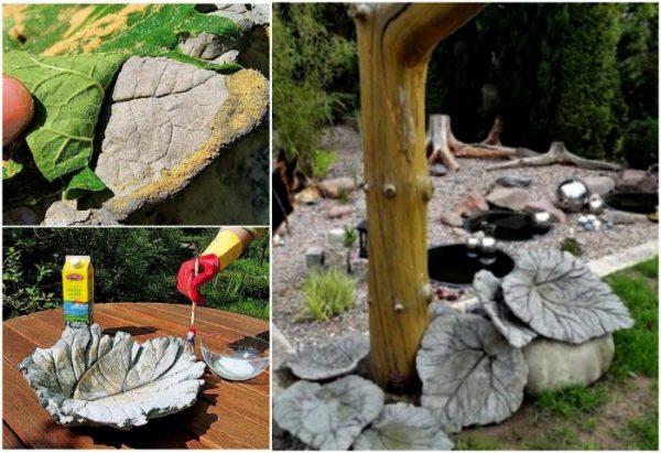 Поделки из цемента: оригинальное оформление сада