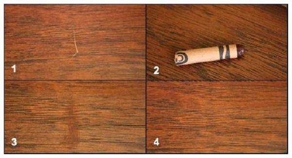 Дырка в линолеуме: как заделать