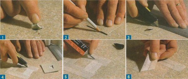 Устранение большой дыры в покрытии с помощью заплатки