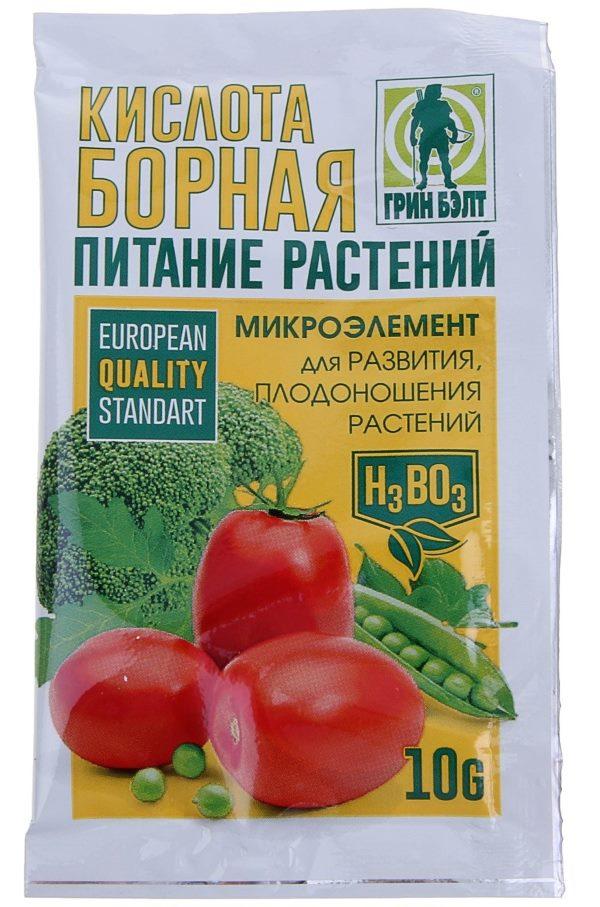 Применение борной кислоты на огороде