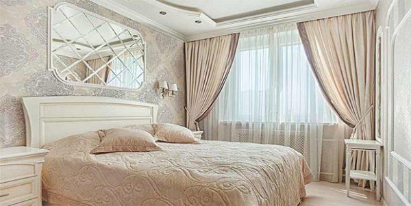 Шторы в спальню: дизайн в современном стиле