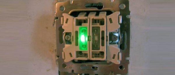 Установка двухклавишного выключателя света