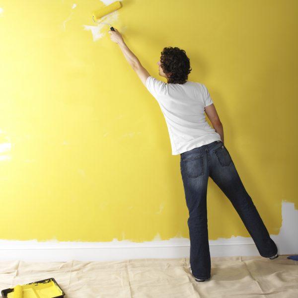 Покраска обоев под покраску без разводов