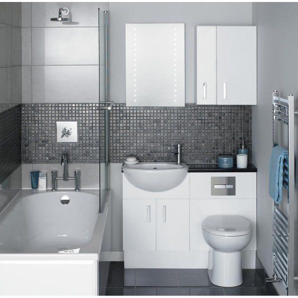 Модные идеи дизайна ванной комнаты с туалетом
