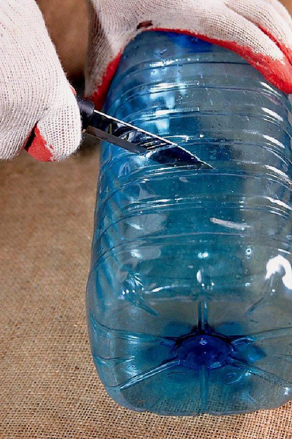 Как сделать водосток из пластиковых бутылок