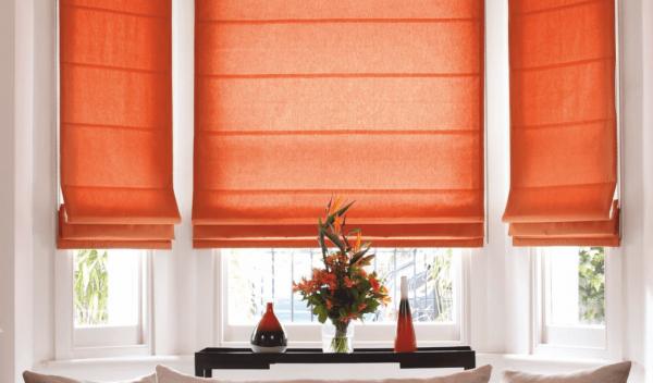 Модные римские шторы на кухню