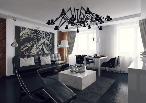 Модные люстры для гостиной 2020