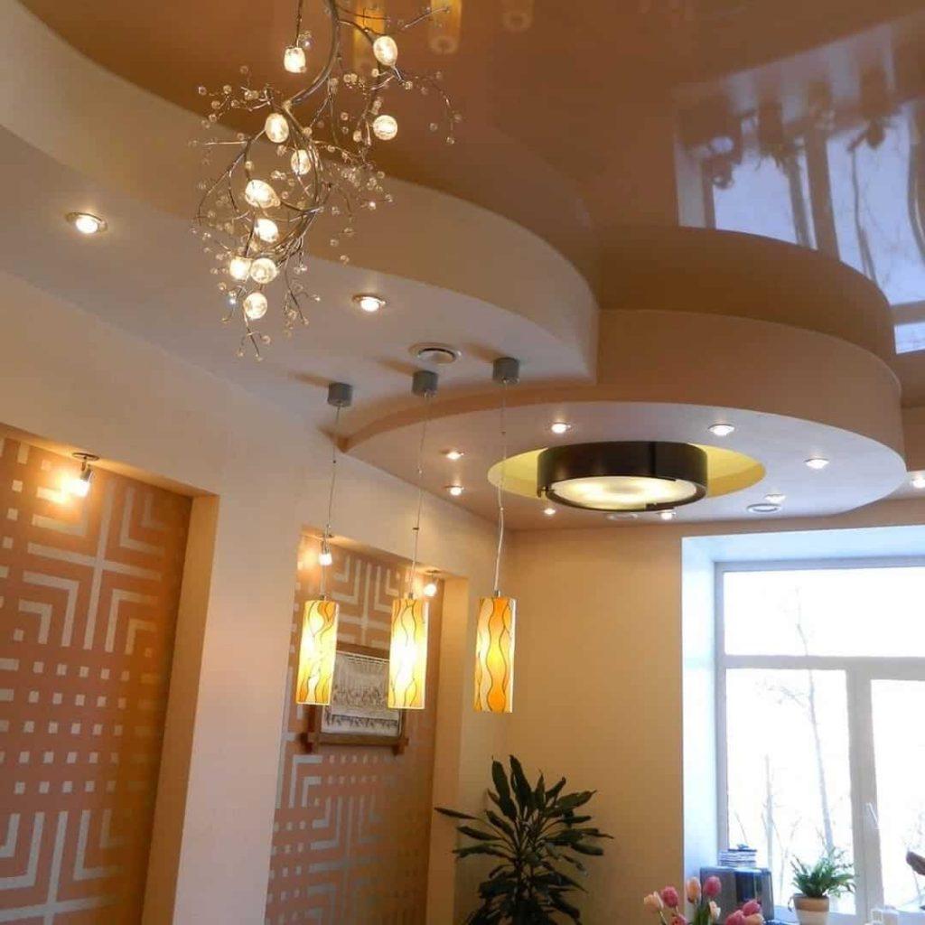 Натяжные потолки: стильное оформление интерьера