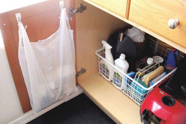 Идеи для хранения пакетов на кухне