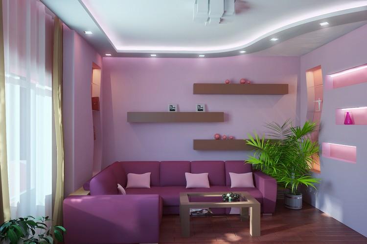 Сочетание цветов в интерьере гостиной 59 фото оформление зала в коричневых и в сиреневых тонах комбинации зеленового и бежевого цвета стен