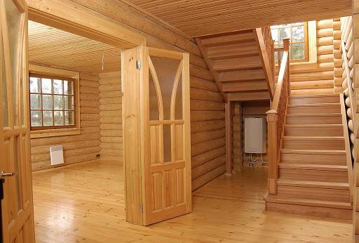 дома из бруса внутри