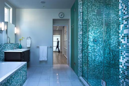 отделка мозаикой ванной