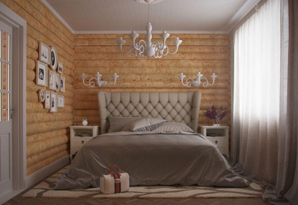 блок хаус спальня
