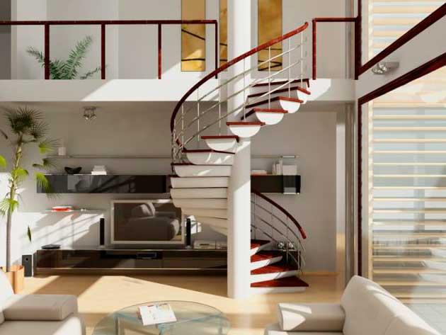модульная винтовая лестница (ФОТО)