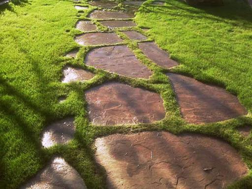 Садовая дорожка из мрамора