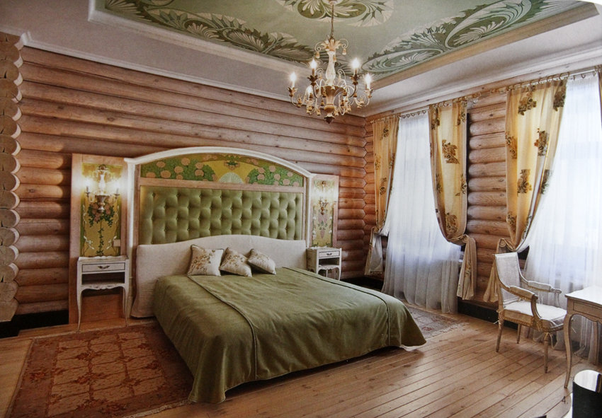 вагонка спальня
