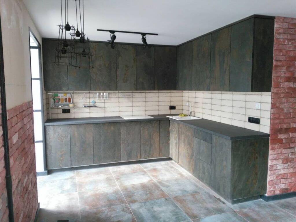 кухонная мебель из шпона