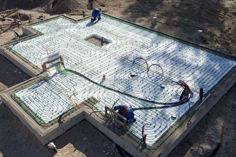 теплый пол при строительстве