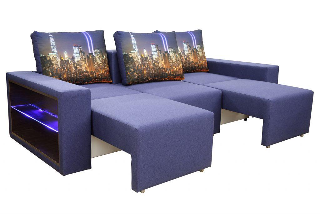 угловые диваны с подсветкой фото