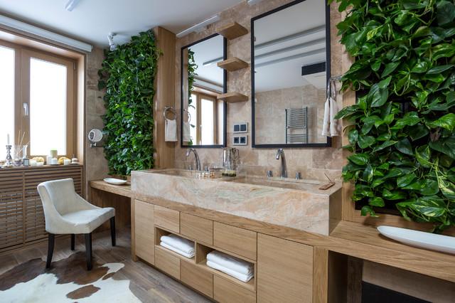 дизайн ванной комнаты в эко стиле