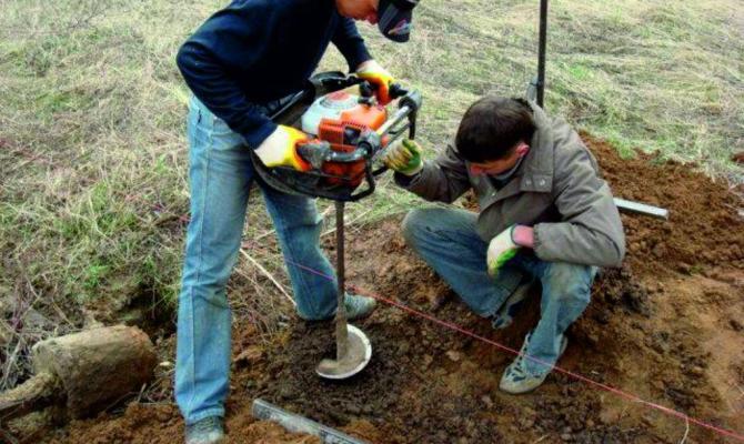 как сделать ямы под столбы