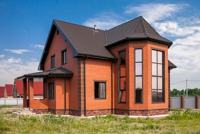кирпичный дом идеи