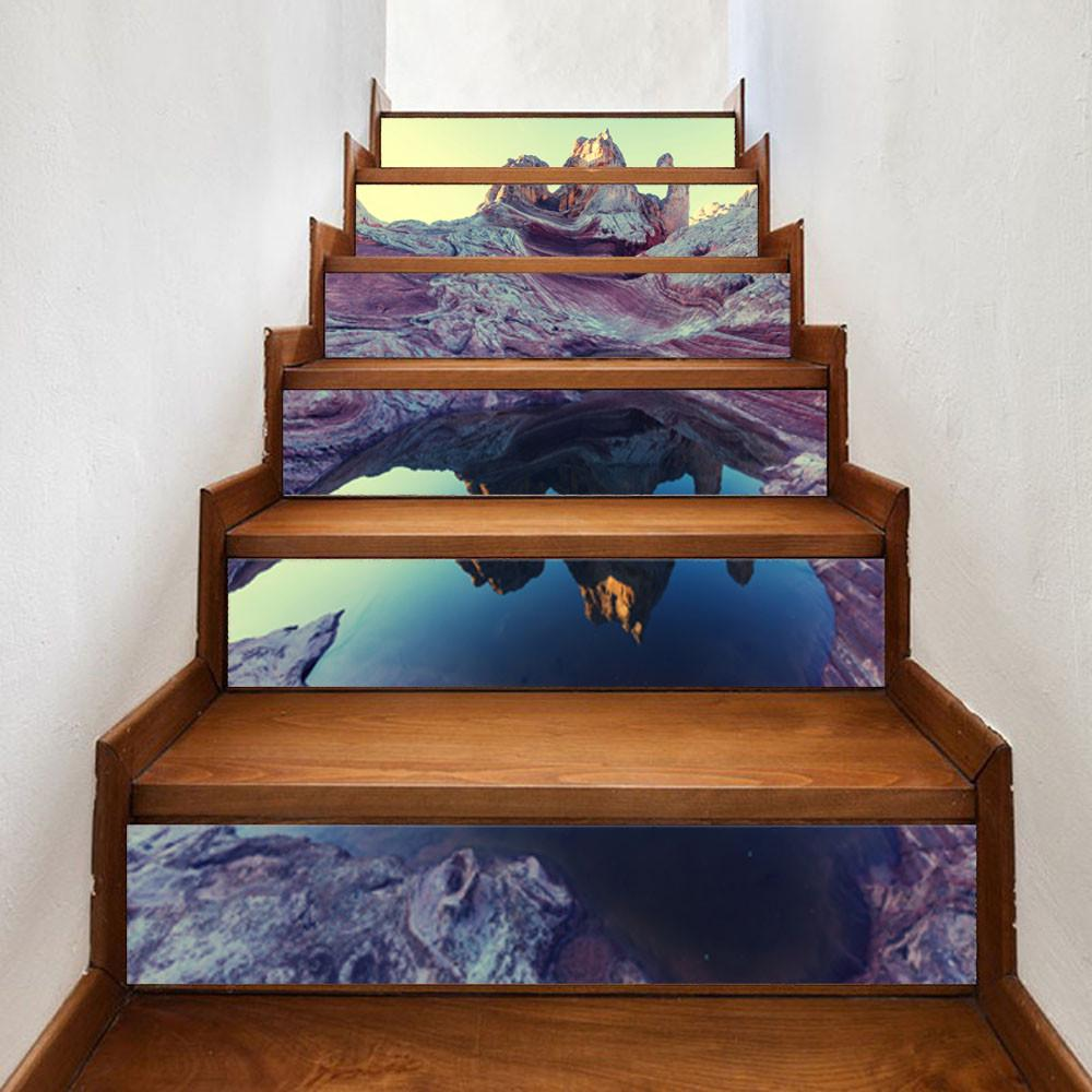 плитка пвх на лестнице