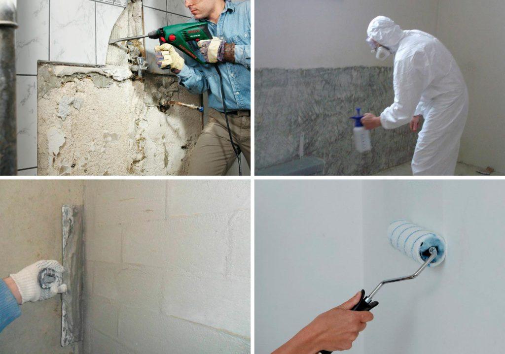 Подготовка поверхности для плитки