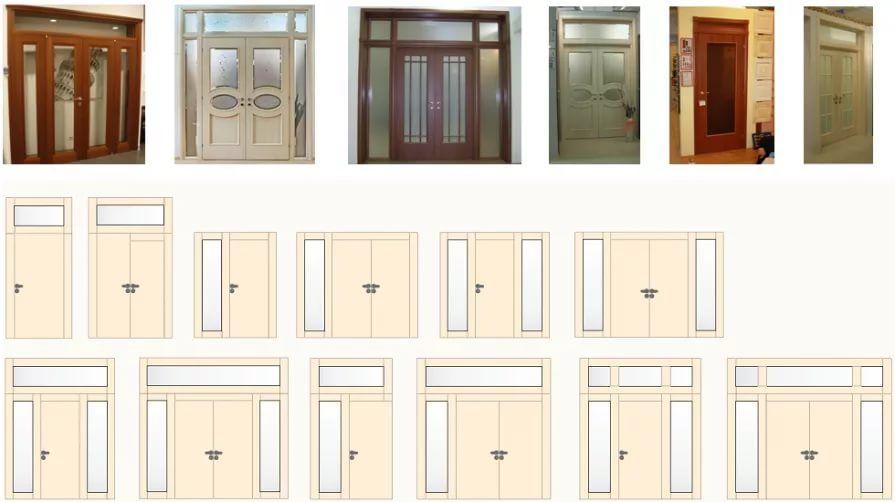 Тамбурные двери со стеклами