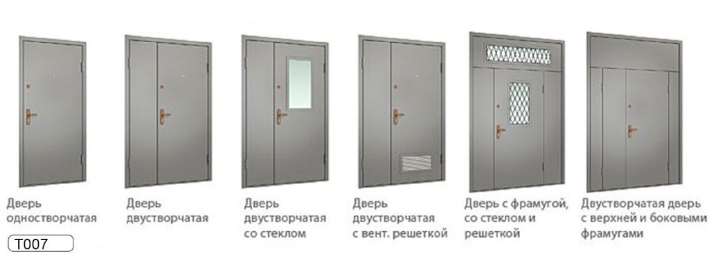 виды тамбурных дверей