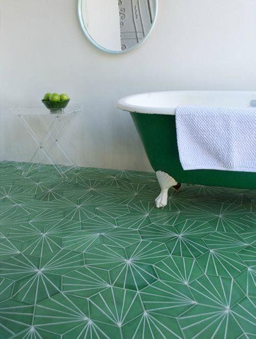 зеленая плитка пвх