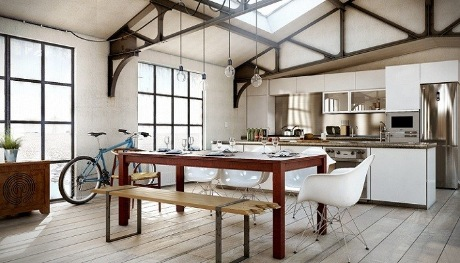 Кухни в стиле лофт: основные правила и приемы дизайна