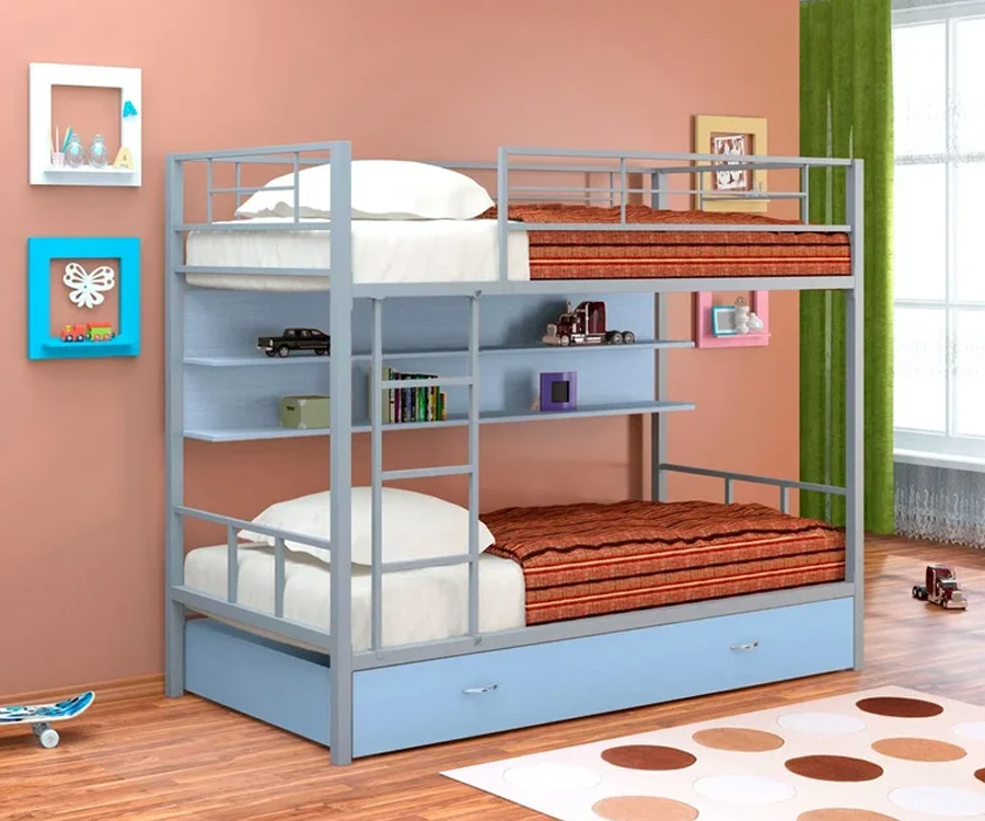 Преимущества двухъярусных кроватей